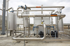Gazu naturalnego zbiornika rurociąg Obraz Stock