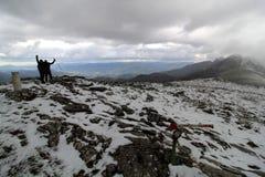 Gazume山在巴斯克地区 库存图片