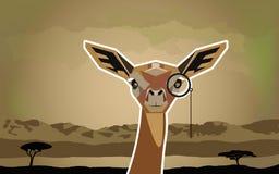 Gazzella animale africana divertente dell'antilope in uno stile del fumetto Immagini Stock