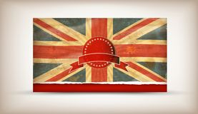Gb. Grunge illustration of flag of The United Kingdom of Great Britain and Northern Ireland Royalty Free Stock Image