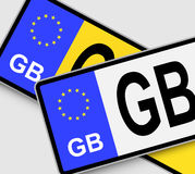 GB Licence Plates Stock Photos