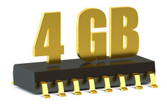 4 Gb RAM or ROM memory chip for smartphone and tablet Stock Image