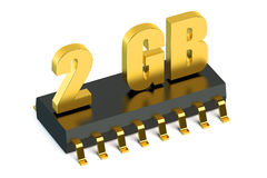 2 Gb RAM or ROM memory chip for smartphone and tablet. Concept Royalty Free Stock Photo