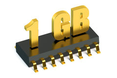 1 Gb RAM or ROM memory for smartphone and tablet. Concept Royalty Free Stock Image