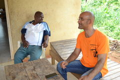 Gbagbo MICHEL VISIT THE RESIDENCE OF HIS FATHER Stock Photo