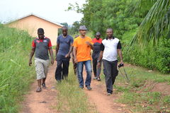 Gbagbo MICHEL VISIT THE RESIDENCE OF HIS FATHER Stock Photography