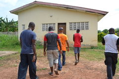 Gbagbo MICHEL VISIT THE RESIDENCE OF HIS FATHER Stock Images