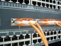 GBIC-vezel optisch communicatie schakelaarmateriaal Stock Afbeelding
