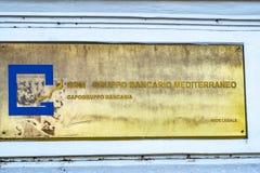GBM - Italian Gruppo Bancario Mediterraneo. Rome, Italy - February 15, 2019: Emblem of GBM - Gruppo Bancario Mediterraneo, Italian regional commercial bank with stock image