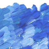 Głęboki błękitny żywy szczotkarski uderzenie dla tła Zdjęcia Stock