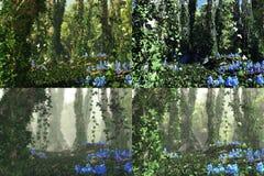 Głęboki las, 3d Komputerowe grafika Obrazy Stock