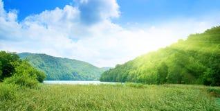 głęboki lasowy jezioro Obrazy Royalty Free