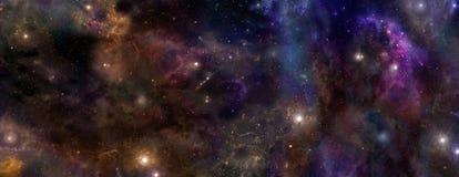 Głębokiej przestrzeni tło Zdjęcia Stock