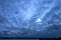 głęboko niebieskie niebo Obraz Royalty Free