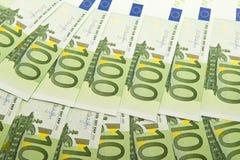 głębokość tła euro pola pieniądze krótki Obrazy Stock