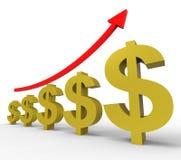 Gbp增加代表美国和帐户 向量例证