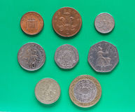 GBP 1英镑硬币 库存图片