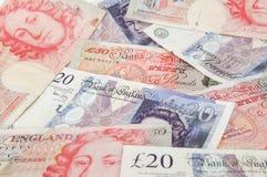 GBP-bankbiljetten Stock Foto's