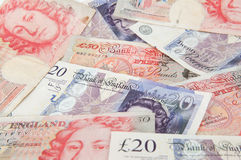 GBP-Banknoten Stockfotos