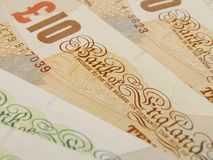 GBP banknotes. British Sterling pound currency - legal tender of the United Kingdom Union - banknotes Stock Images
