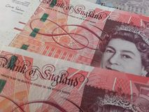 GBP banknotes and coins Royalty Free Stock Photo