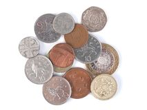 GBP coins Royalty Free Stock Photo
