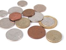 GBP coins Royalty Free Stock Photography
