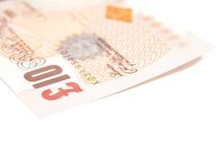 GBP de livres sterling britanniques d'argent Photographie stock libre de droits