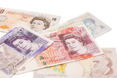 Gbp för ett pund sterling för brittiska pund för pengar Royaltyfria Bilder