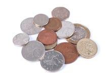 GBP-Münzen Stockbild