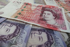 GBP notes Royalty Free Stock Image