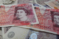 GBP notes Royalty Free Stock Images