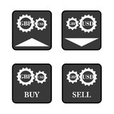 GBP USD icons Royalty Free Stock Photography