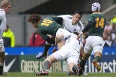 GBR橄榄球联合英国对南非 免版税库存照片