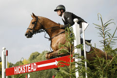 GBR: Ιππικό ντέρπι 2011 άλματος Hickstead Στοκ φωτογραφία με δικαίωμα ελεύθερης χρήσης