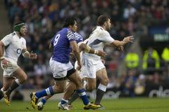 GBR :橄榄球联合英国对萨摩亚 免版税库存照片