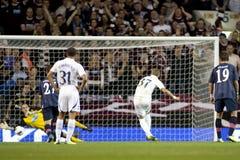 GBR :橄榄球UEFA欧罗巴同盟,托特纳姆v心脏25/08/2011 免版税库存图片