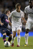 GBR :橄榄球UEFA欧罗巴同盟,托特纳姆v心脏25/08/2011 库存照片