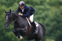 GBR :骑马Hickstead跃迁德比2011年 免版税库存图片