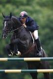 GBR :骑马Hickstead跃迁德比2011年 库存图片