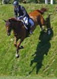 GBR :骑马Hickstead跃迁德比2011年 免版税图库摄影