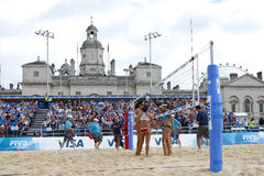 GBR :FIVB国际伦敦12/08/2011 库存照片