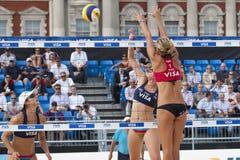 GBR: FIVB διεθνές Λονδίνο 10/08/2011 Στοκ Φωτογραφία