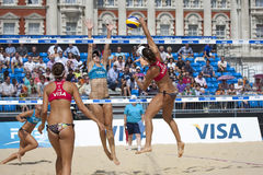 GBR: FIVB internationales London 10/08/2011 Lizenzfreie Stockfotografie