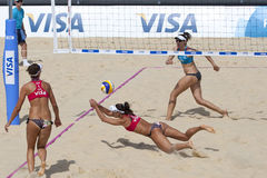 GBR: FIVB internationella London 10/08/2011 Arkivbild