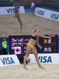 GBR: FIVB Londres internacional 12/08/2011 fotografia de stock royalty free