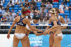 GBR : FIVB Londres internationale 12/08/2011 Image stock