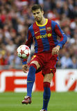 GBR: Football Champions League Final 2011. LONDON, ENGLAND. May 28 2011: Barcelona's defender Gerard Pique during the 2011UEFA Champions League final between royalty free stock images