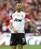 GBR: Football Champions League Final 2011. LONDON, ENGLAND. May 28 2011: Manchester's midfielder Ryan Giggs during the 2011UEFA Champions League final between stock image