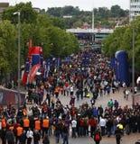 GBR: Fußball verficht Liga-Schluss 2011 Stockbild